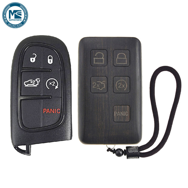 Keyless Entry Remote Control Refit Rosewood Car Key Fob Shell Replacement  For Jeep Grand Cherokee (