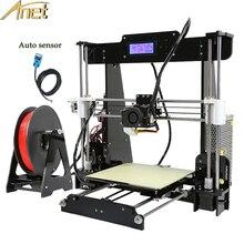 2017 обновления автоматическое выравнивание Prusa i3 3D-принтеры комплект DIY Анет A8 3D принтер с Алюминий очаг Бесплатная 10 м нити 8 ГБ SD карты ЖК-дисплей