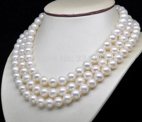 Natural AAA + GRADE 7 - 8 MM White Pearl Necklace 60