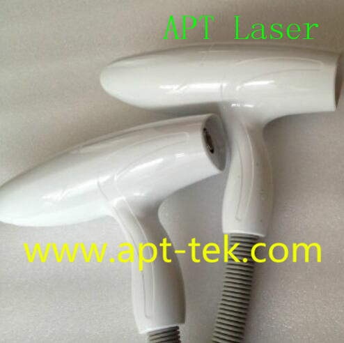 Beauty Machine Nd Yag Laser Handpiece with high-energy  Handle Included 3 pcs laser treatment Head