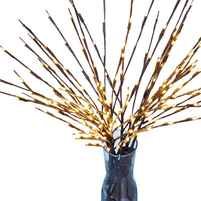 SHGO-LED Willow Tree Branch Lamp Christmas Floral Light 20 LEDs Home Party Garden Bedroom Desktop Vase Decoration Lights