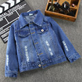Kids Spring Jacket Children Outerwear 2016 Fashion High Quality Baby Boys&Girls Long Sleeve Denim Jean Jacket And Coat For 2-7T