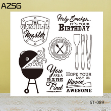AZSG Various Kitchenware Style Clear Stamps/Seals For DIY Scrapbooking/Card Making/Album Decorative Silicone Stamp Crafts