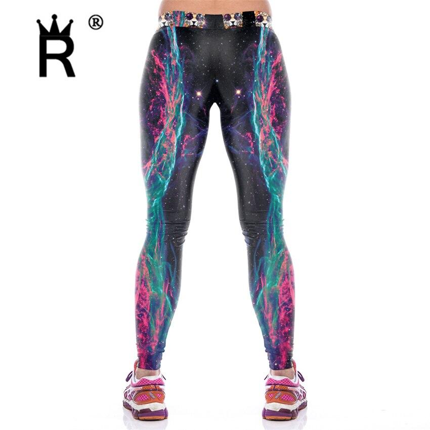 Digital Dicetak Wanita Legging Wanita Leggins Galaxy Splatter lukisan - Pakaian Wanita - Foto 2