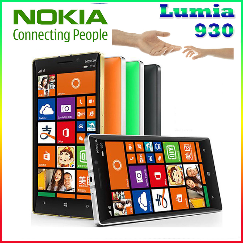 Original Nokia Lumia 930 cell phone 20MP Camera LTE NFC Quad core 32GB ROM 2GB RAM