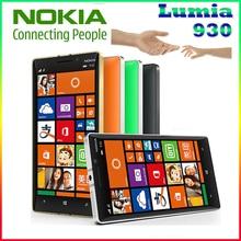 D'origine Nokia Lumia 930 cellulaire téléphone 20MP Caméra LTE NFC Quad-core 32 GB ROM 2 GB RAM livraison gratuite