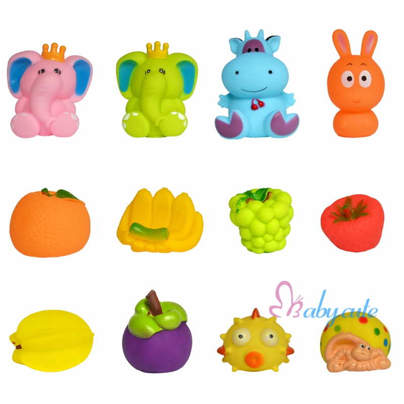 20 Pcs lot Bath Toys Baby Bathtub Toys Cute Soft Rubber Float Jouet ...