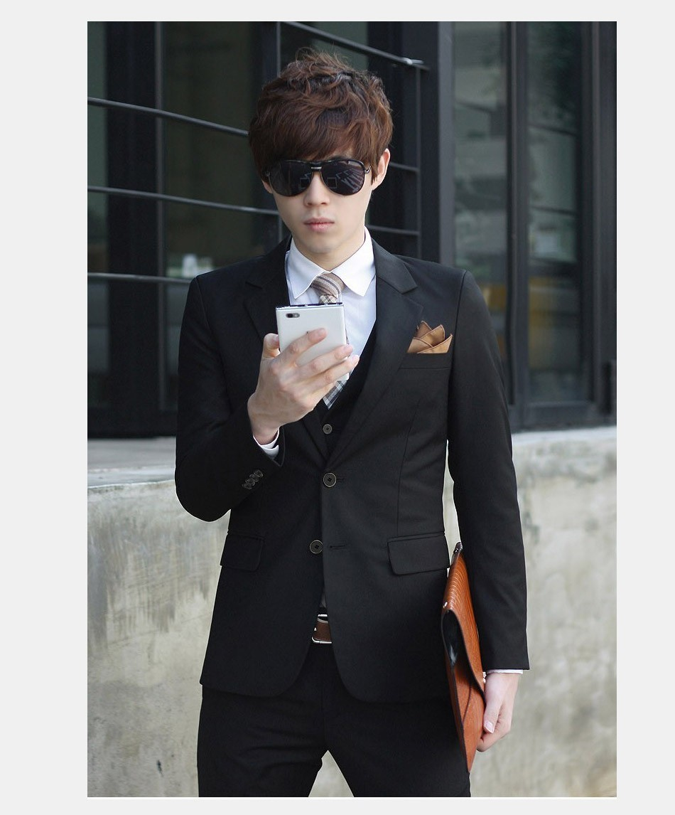 Suit Men Blue discount 13