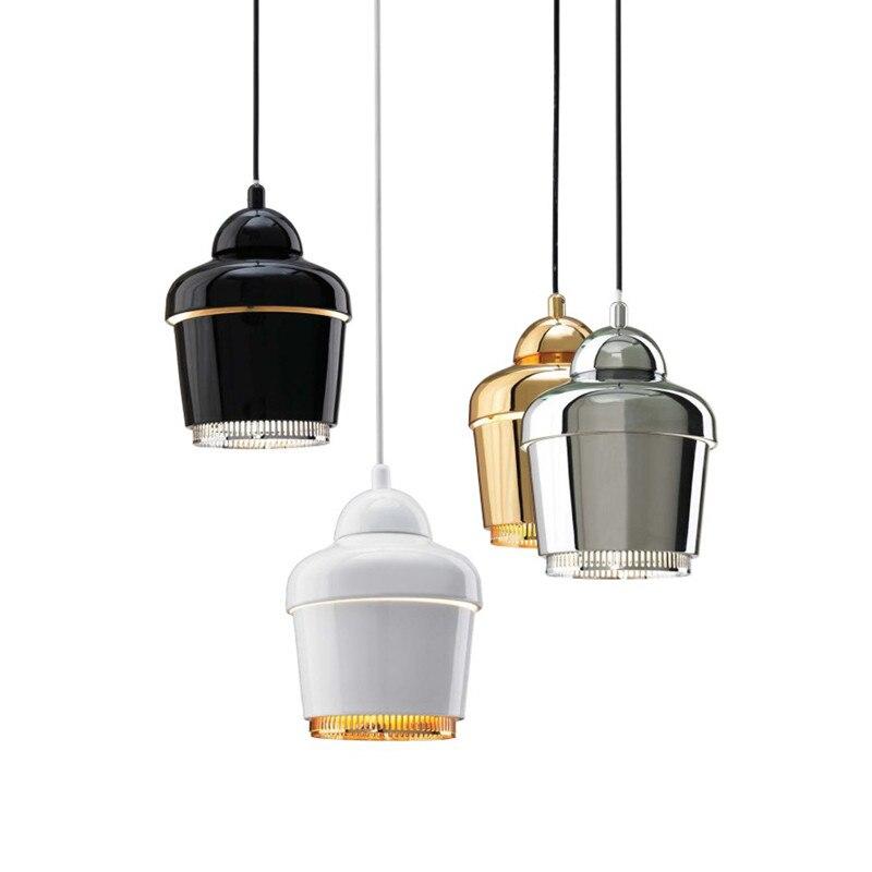 Artek moderna Lampade A Sospensione Per Sala Da Pranzo Cucina Metallo Mini oro Infissi Lampada E27 110 V 220 V Illuminazione Domestica Lamparas 2016 nuovo - 2
