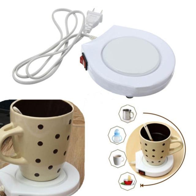 New White Electronic Ed Mug Bottle Warmer Heater Pad Coffee Tea Milk Us Plug 220v