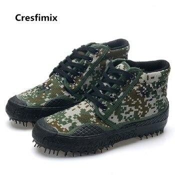 Cresfimix zapatos hombre moda masculina cómoda durable antideslizante zapatos altos hombres casual calle verde zapatos frescos c2689