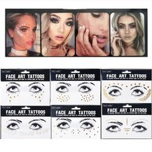 Face Tattos Disposable Electronic Music Festival Fashion Bar Performance Makeup Nightclub Dance Party Bling Bling Body Tattoos electric festival body art jewels paste diy chest drill acrylic drilling performance make up bar nightclub music party