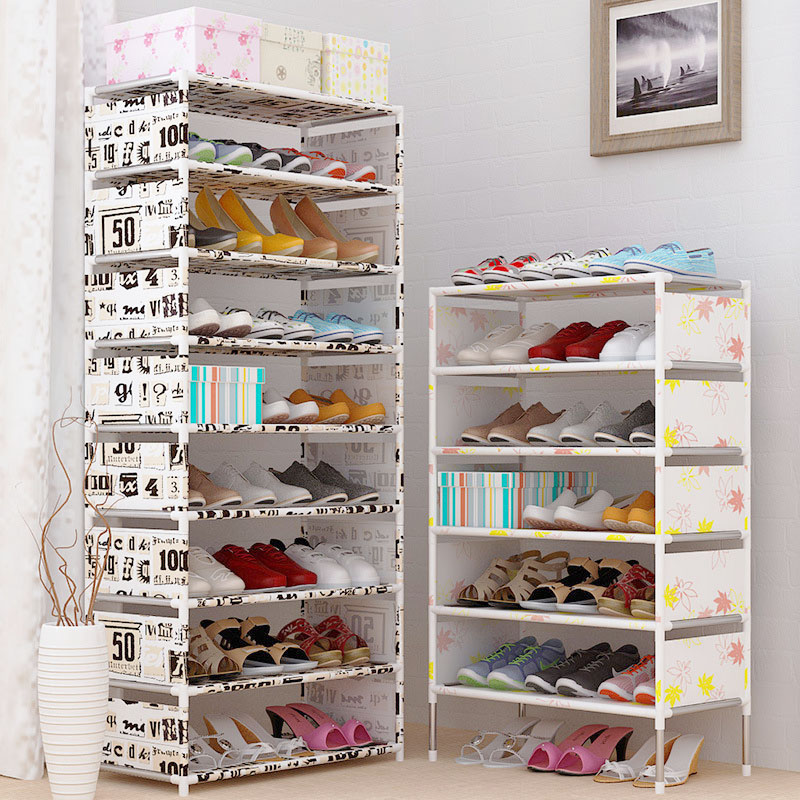 Shoe cabinet Easy Assembled Non-woven Multi Layers Shoe Rack Shelf Storage Organizer Stand Holder Keep Room Neat Door Space Savi 26 pairs over door hanging stand shoe rack shelf storage organiser pocket holder creamy white