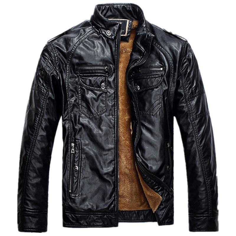 Black New Lether Jacket Man 2018 Biker Jackets Male Pu Leathers Coat For Men Masculine Jean Jacket Mens Motorcycle Jackets