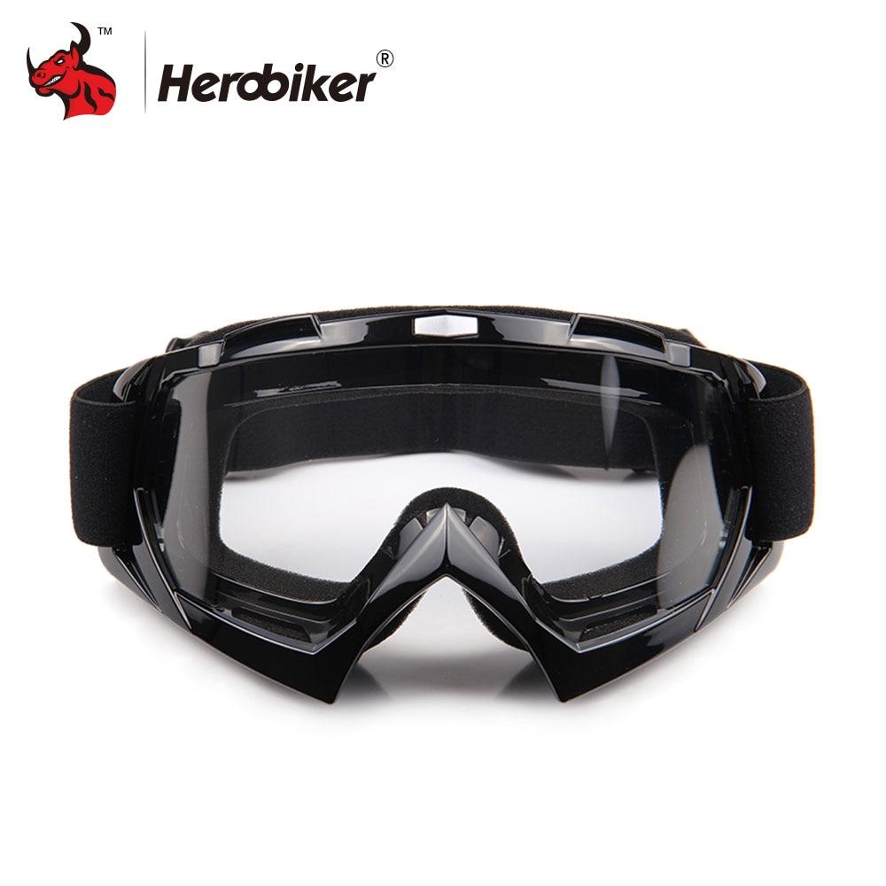 HEROBIKE Clears font b snowboard b font goggles Motorcycle Goggles Winter Skate Sled ATV Eyewear font