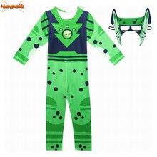 Wild Kratts Cosplay Costume Boy Jumpsuits&Mask 2PCS/Set Kids Halloween Fancy Dress Costumes Children Wild Kratts Streetwear
