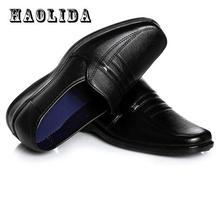 2017 розничная продажа Для мужчин Бизнес Повседневная кожаная обувь мужские оксфорды классические отца Обувь Для мужчин Туфли без каблуков круглый носок удобные офисные туфли