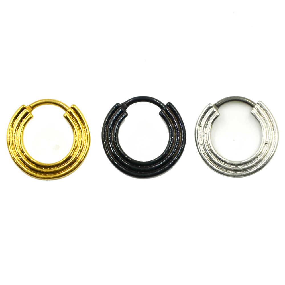 1pc Titanium Triple Line Nose Septum Clicker Piercing Body Jewelry