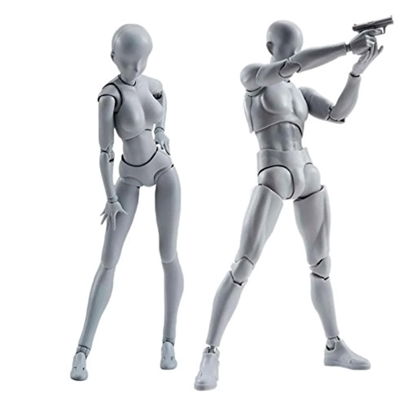 Soldier Action Figure Toy Model Art Painting Anime Figure SHF Sketch Draw Male Female Movable Body Chan Joint Draw Mannequin new 2pcs female right left vivid foot mannequin jewerly display model art sketch