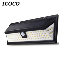 ICOCO Waterproof 80 LED Solar Security Light Motion Sensor Outdoor Lighting Wireless