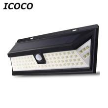 ICOCO Waterproof 80 LED Solar Security Light Motion Sensor Outdoor Lighting Wireless