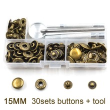 (30 sets/lot)15mm Snap Buttons+Manually install the tool. Boxed.DIY accessories. Metal buttons. jeans.Decorative buttons.