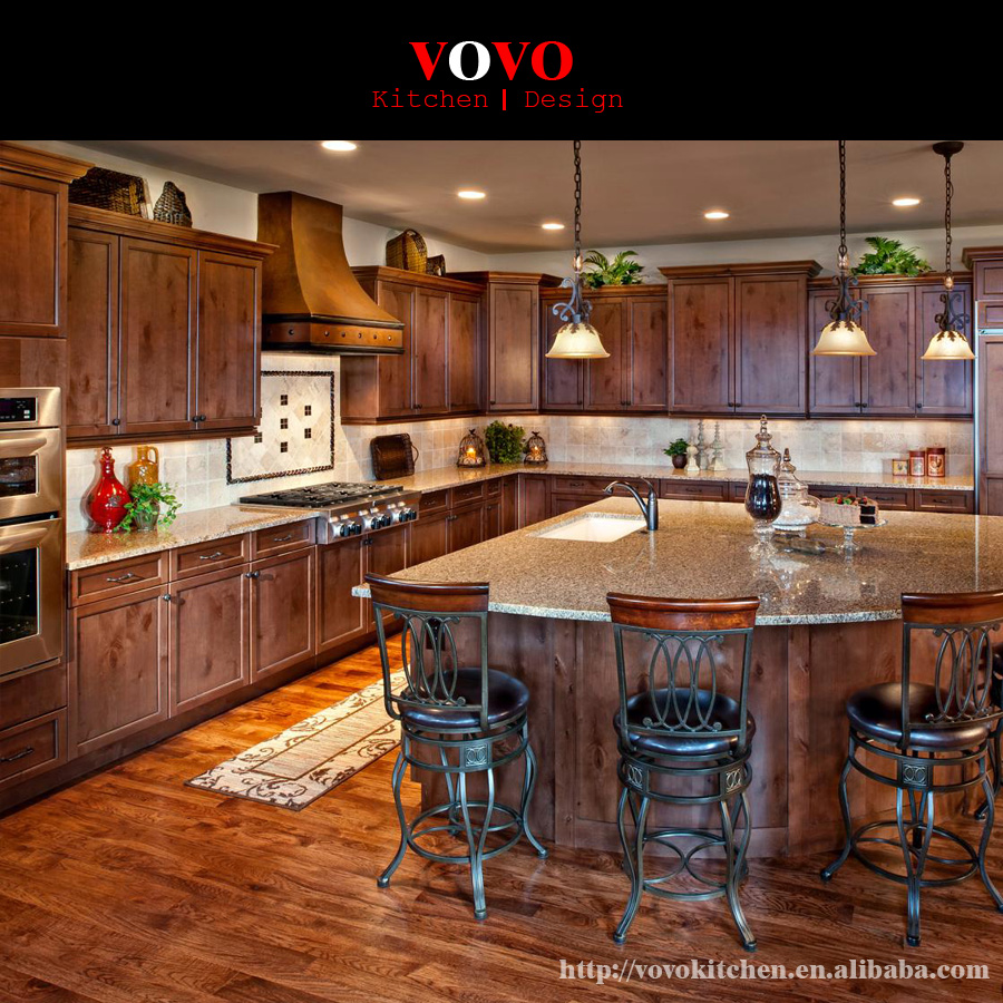 Hot selling simple Cherry wood kitchen cabinet-in Kitchen ...