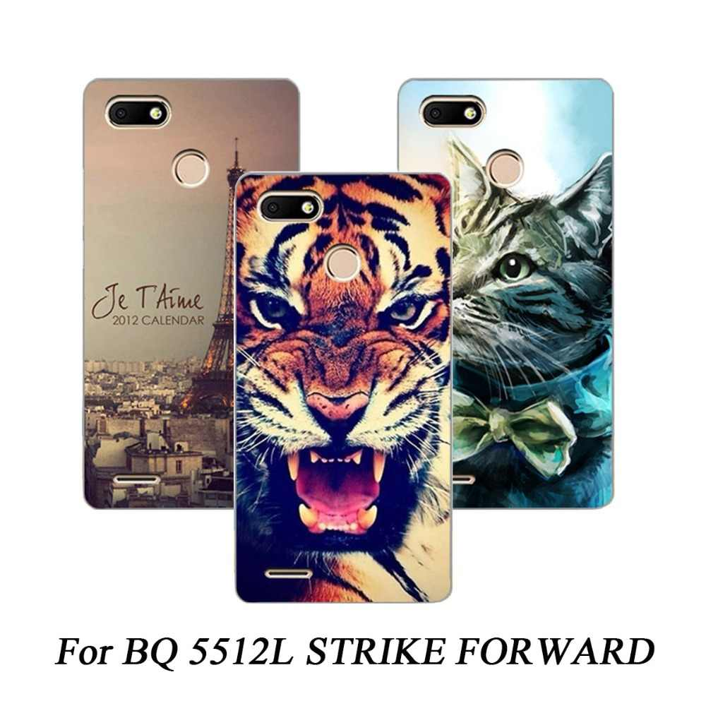 Cartoon Animal Flower TPU Case For BQ 5512L STRIKE FORWARD painted Phone Case For BQ 5512L Soft Silicone Back Cover Case