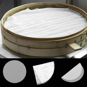 8 Sizes Round Non-Stick Silicone Steamer Pad White Dim Sum Paper Home Restaurant Steamers Mat Kitchen Cooking Tools