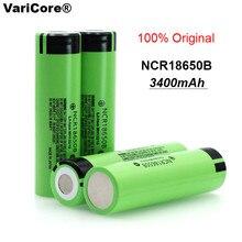 4 pcs Lot VariCore 100 New Original NCR18650B 18650 li ion Rechargeable battery 3400 mAh 3