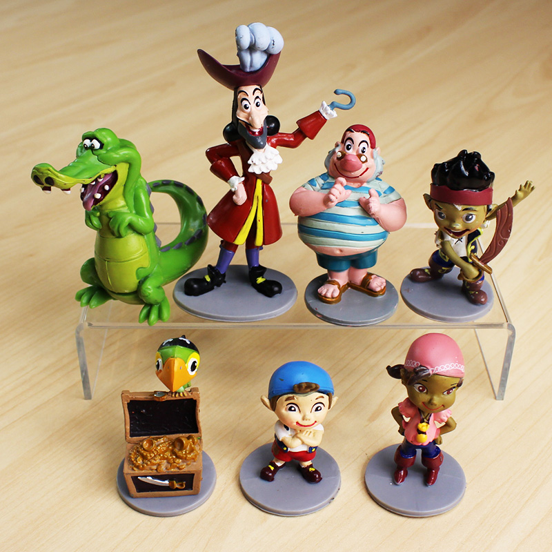 <font><b>Anime</b></font> <font><b>Cartoon</b></font> <font><b>Jake</b></font> <font><b>and</b></font> <font><b>The</b></font> <font><b>Neverland</b></font> <font><b>Pirates</b></font> <font><b>PVC</b></font> Action Figure Toys 7pcs/lot Free Shipping
