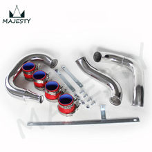 FRONT MOUNT INTERCOOLER PIPING PIPE KIT FOR MITSUBISHI LANCER EVO 4 5 6 NEW red brand CSK
