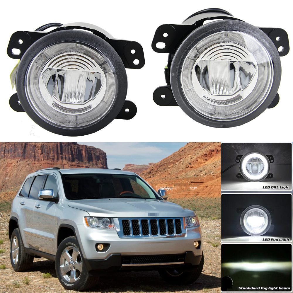 DOT/SAE approved Fog Lights For Jeep Wrangler 2007-2011 Chrysler 300 PT Cruiser Dodge Magnum Journey Parking Drl driving Light система охлаждения after market 5017183ab chrysler 300 dodge magnum concorde