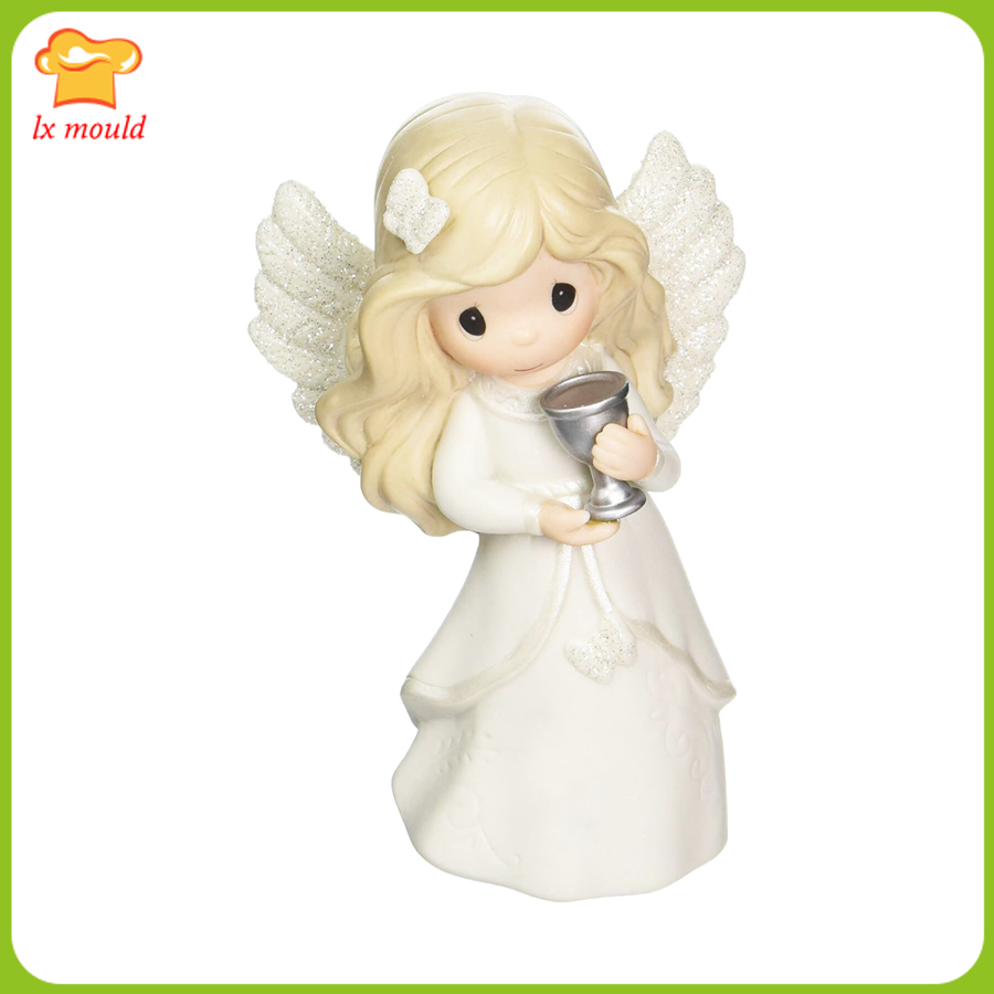 2019 new Angel girl takes trophy 3D silicone soap candle high quality silicone mold