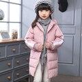 Novo Casaco de Inverno das Crianças Das Meninas Do Esporte Jaquetas Pato Para Baixo Casacos Para As Meninas Roupas de Inverno Crianças Outerwear Quente Grosso Longo casaco