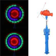 Мельница Magic Stick палочка светодиодный освещения музыка вращающихся мельница игрушка голова рыбы