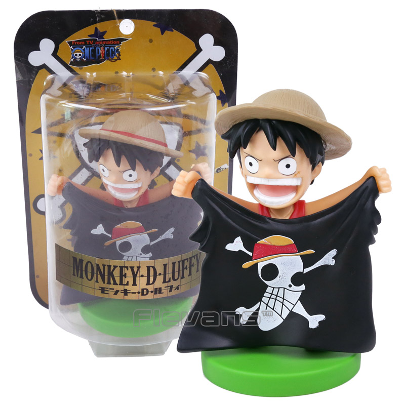 Us 10 78 17 Off Monkey D Luffy One Piece Anime Action Figure Bobble Head Collectible Model Toy 3 Types 14cm In Action Toy Figures From Toys