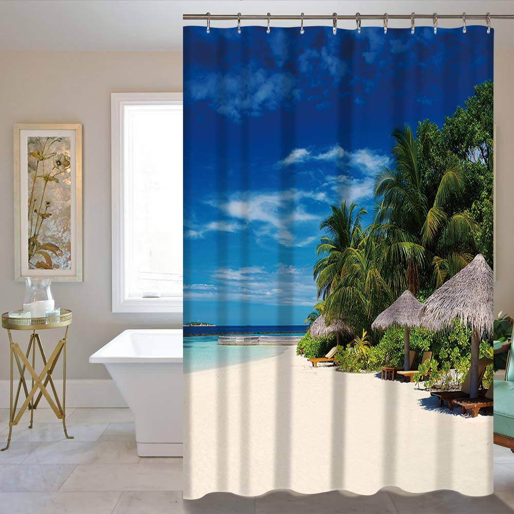 Nagykereskedelmi zuhanyfüggöny 180X150 / 180CM 3D digitális - Háztartási árucikkek