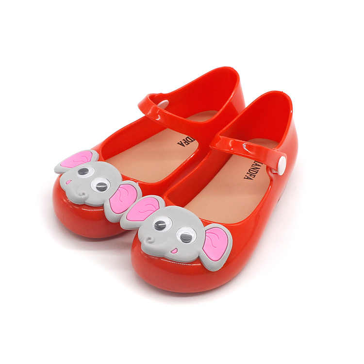 dd6a37a72794 ... Girls Jelly Shoes Cartoon Elephant Children Sandals Cute Girls Baby  Jelly Sandals Infant Kids Sweet princess ...