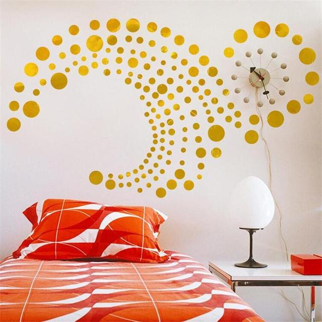 82pcs/set polka dots circle wall stickers for kids rooms home decor