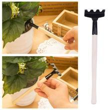 Mini Spade Shovel Harrow Set Gardening Tools Potted Plants Maintenance Suit With Wooden Handle Garden Tool