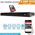 Hik Neutro Versão NVR DS-7608NI-E2/Caso 8 P 8ch NVR Com 8 Interfaces de Rede PoE NVR HD 1080 P 2 SATA NVR