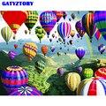 Rahmenlose Bild DIY Malerei Durch Zahlen Bunte Ballon Landschaft handgemalte Ölgemälde Acryl Auf Leinwand Für Wohnkultur