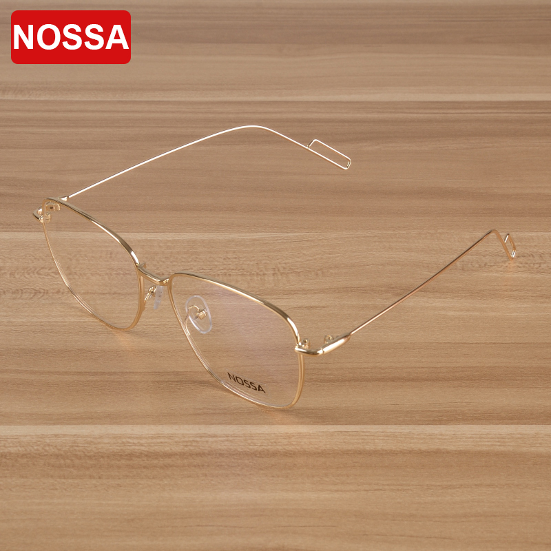 NOSSA 2017 Unisex Super Light Metal Optical Glasses Frame Elegant Glasses Brand Designer Recept Eye Glasses Frame Hot Sale