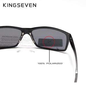 Image 5 - نظارات شمسية KINGSEVEN موضة 2019 من الألمونيوم والمغنسيوم للرجال نظارات قيادة مستقطبة للرجال UV400 Oculos N7021