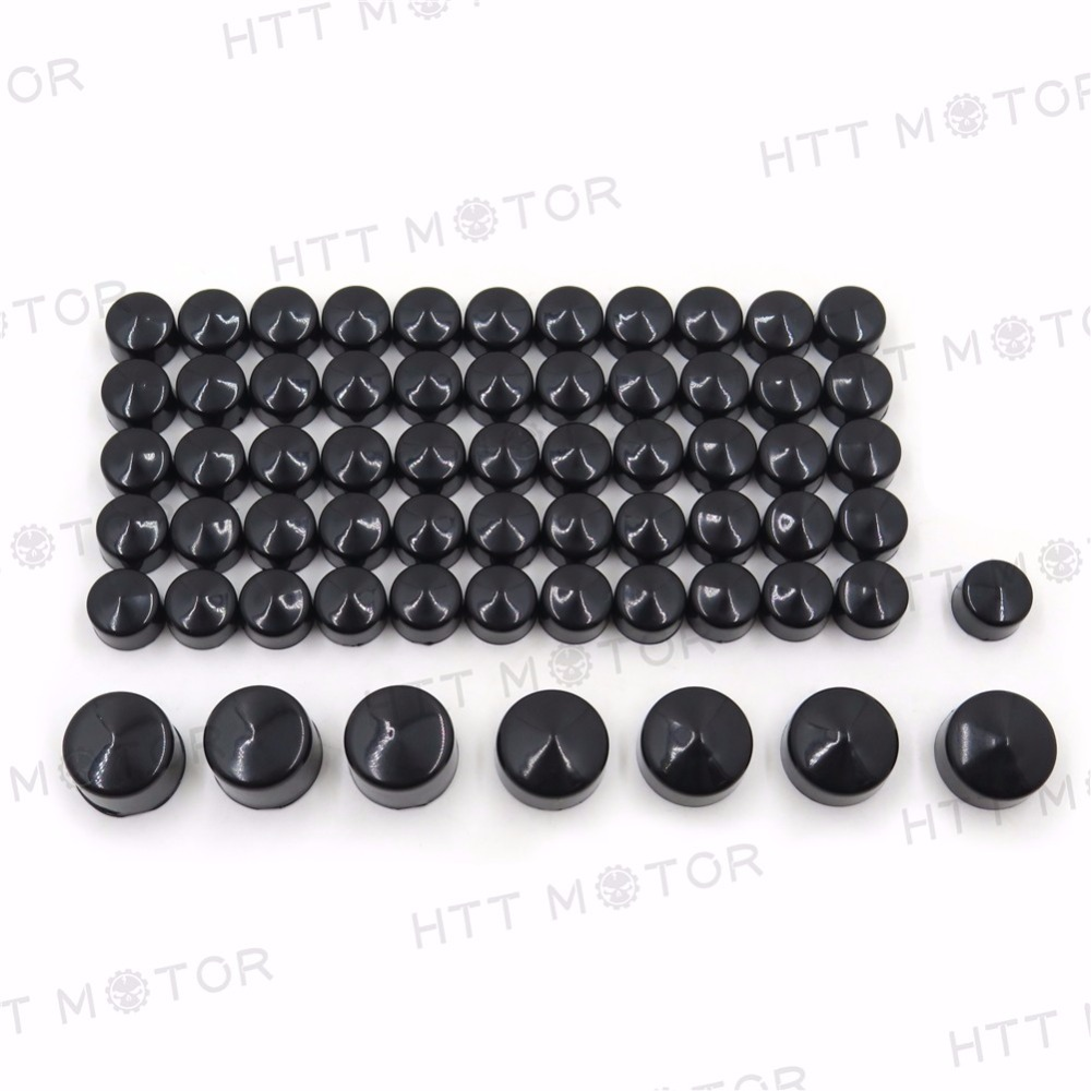 Aftermarket free shipping Motorcycle parts 63 pieces BLACK  Caps Cover Kit for 04-15 Harley Sportster Engine & Misc Bolt Nut aftermarket free shipping motorcycle parts eliminator tidy tail for 2006 2007 2008 fz6 fazer 2007 2008b lack