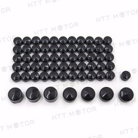 Aftermarket free shipping Motorcycle parts 63 pieces BLACK Caps Cover Kit for 04 15 Harley Sportster Engine & Misc Bolt Nut