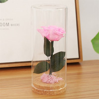 Pink Preserved Flower Rose Decor Never Withered Roses Upscale Immortal Flowers Valentine S Day Christmas Eve