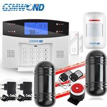 Di Sicurezza Antifurto casa PSTN e GSM Sistema di Allarme 850/900/1800/1900 Wireless Segnalazione Inglese/Russo /spagnolo/Francese/Italiano
