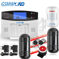 Home Burglar Security PSTN & GSM Alarm System 850/900/1800/1900 Wireless Signaling English / Russian / Spanish / French/Italian|system alarm|system alarm gsm|pstn gsm alarm system -
